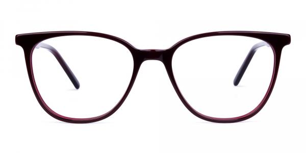 burgundy cat eye glasses