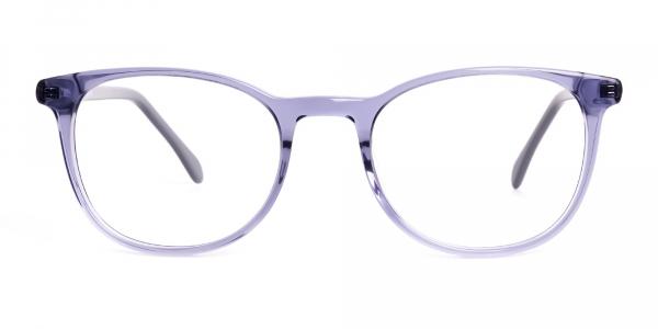 Crystal Space Grey Full Rim Round Glasses Frames