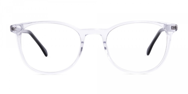 Crystal Clear Transparent Round Glasses