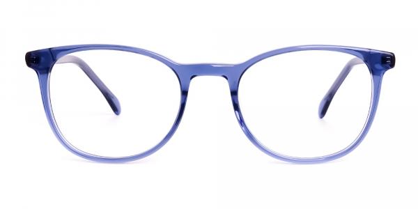 Dark Blue Round Glasses Frames