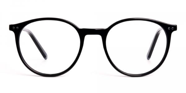 designer and trendy black round glasses frames