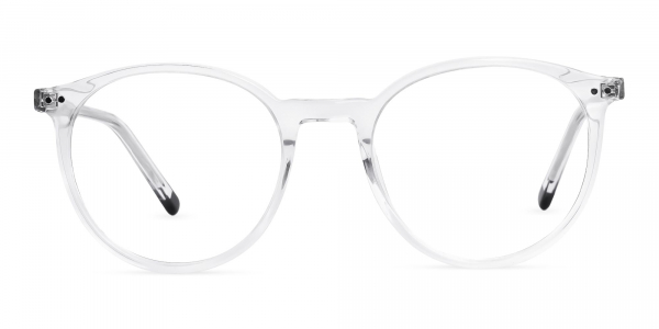 crystal clear and transparent round glasses frames