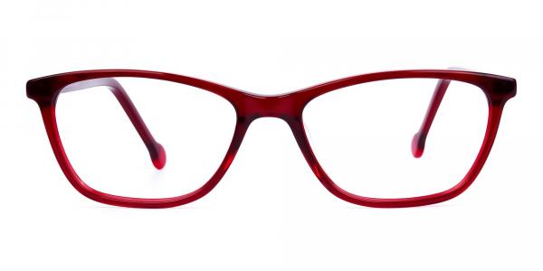 Cherry Red Full Rim Cat Eye Glasses