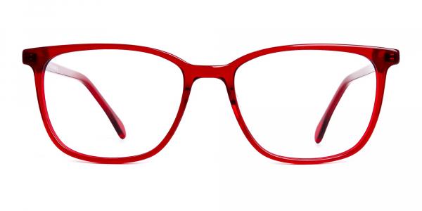 Wine Red Wayfarer and Rectangular Glasses Frames