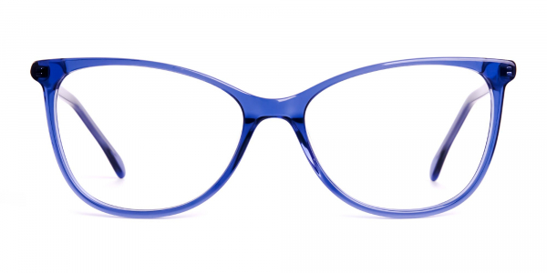 dark blue cat eye glasses
