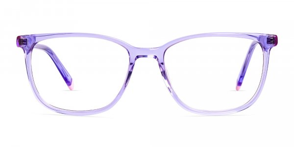 Crystal Light Purple Wayfarer and Rectangular Glasses Frames