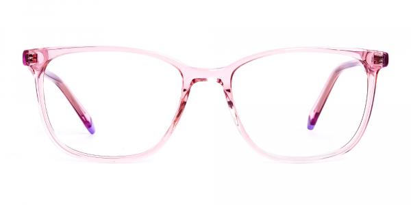 Crystal pink Wayfarer and Rectangular Glasses Frames