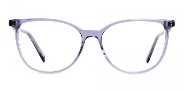 Crystal Dark Grey Cat eye Glasses Frames