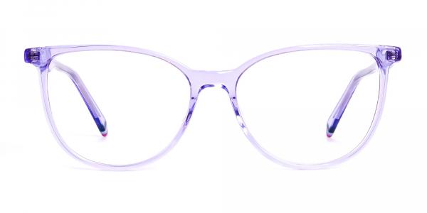 Light Purple Crystal Cat eye Glasses Frames
