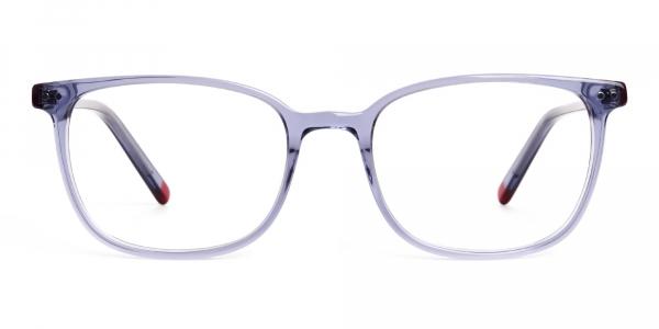 Crystal Space Grey Rectangular Glasses frames