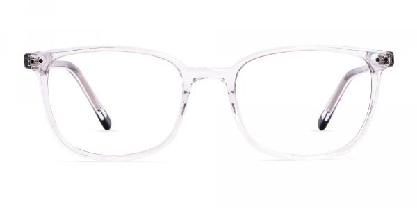 Crystal Clear Transparent Rectangular Glasses Frames