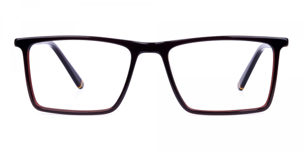 Dark Brown Rectangular Glasses