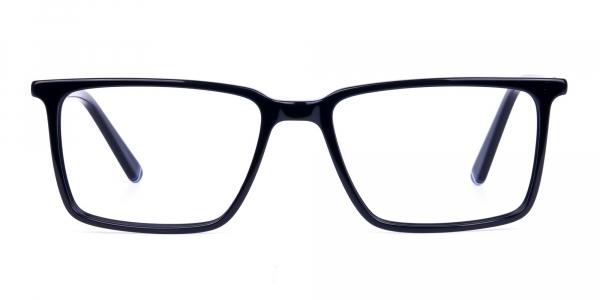 Black Fully Rimmed Rectangular Glasse