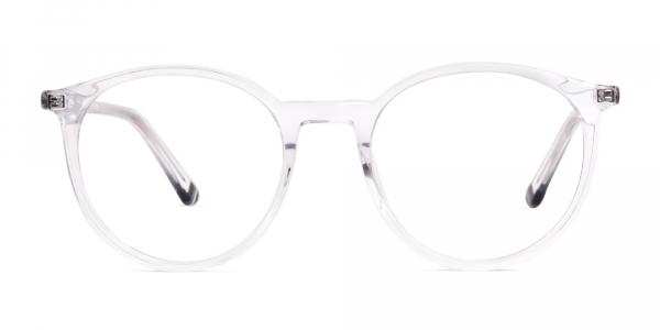 transparent round full rim glasses frames