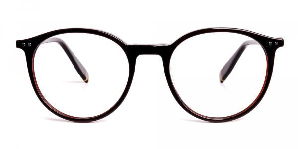 dark brown round full rim glasses frames