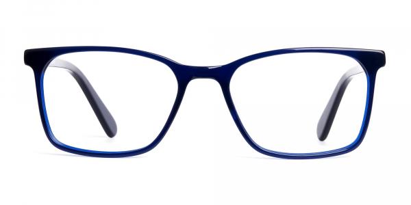 royal blue rectangular glasses frames