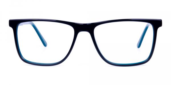 Black Designer Rectangular Glasses Frames