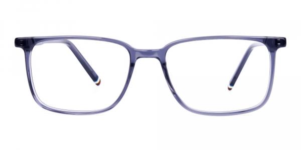Blue Rimmed Rectangular Glasses