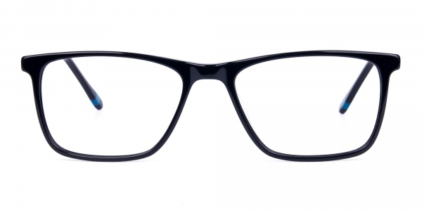 Teal and Black Rectangle Eyeglasses