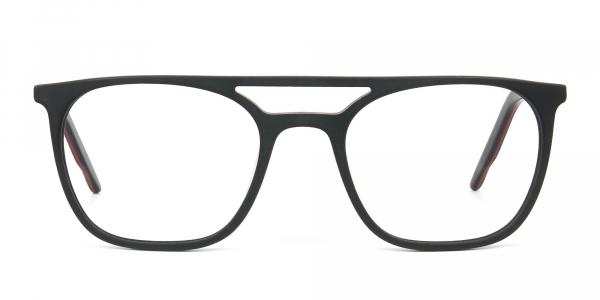 Matte Black Aviator Spectacles