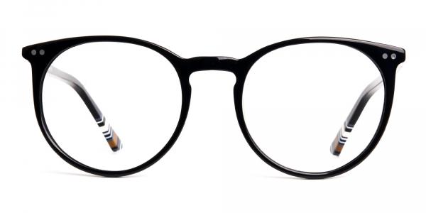 Black Round Designer Glasses frames