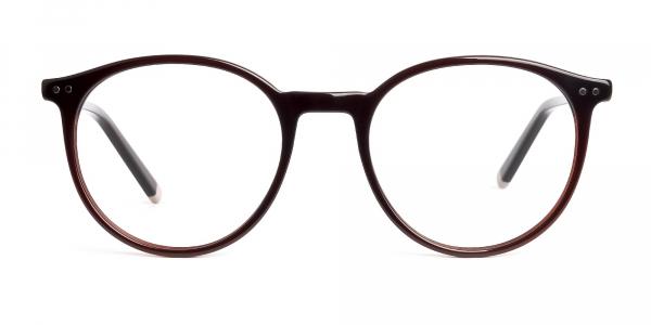 dark brown round glasses frames