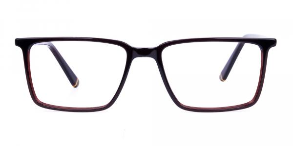 Dark Brown Fully Rimmed Rectangular Glasses