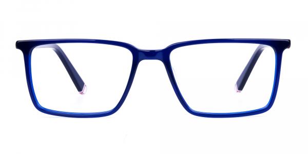 Navy Blue Rimmed Rectangular Glasses