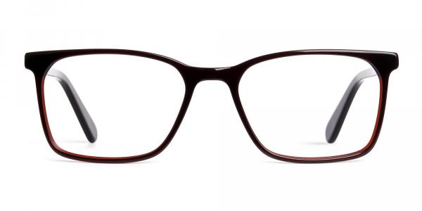 dark brown tortoise shell rectangular glasses frames