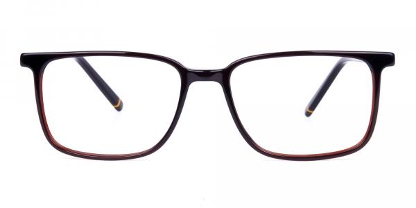 Dark Brown Rim Rectangular Glasses