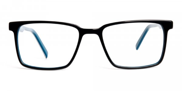 Black-and-Teal-Designer-Rectangular-Glasses-frames-1