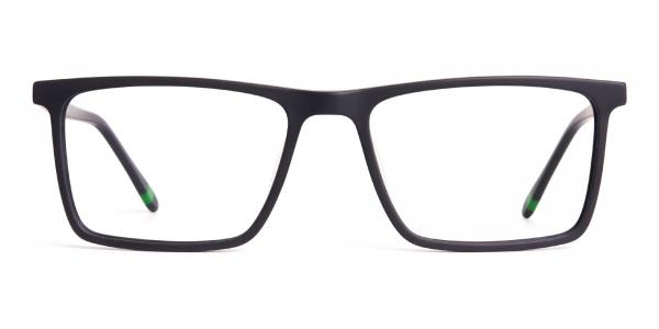 matte grey full rim rectangular glasses frames