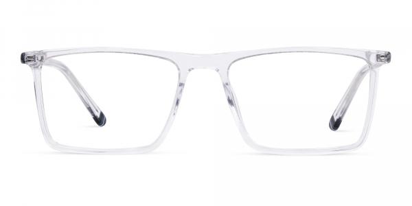 Crystal Clear Full Rim Rectangular Glasses