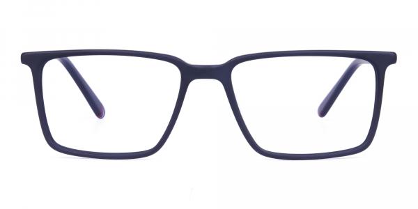 Matte Black Fully Rimmed Rectangular Glasses