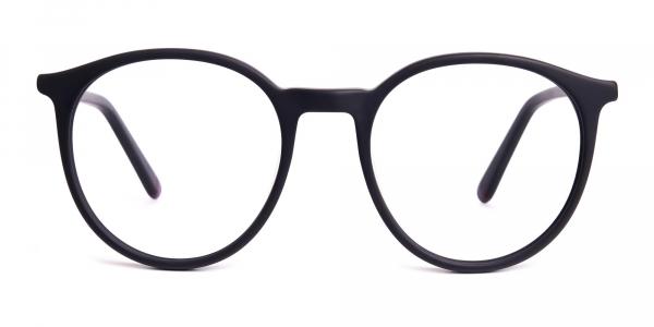 Matte black full rim Round Glasses frames