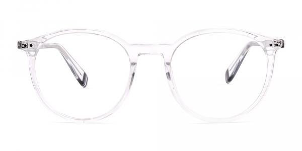 transparent round shape glasses