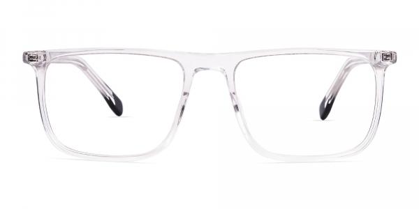 clear transparent rectangular glasses frames