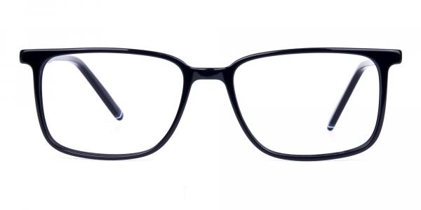 Classic Matte Black Rectangular Glasses