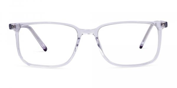 Crystal Clear Rim Rectangular Glasses