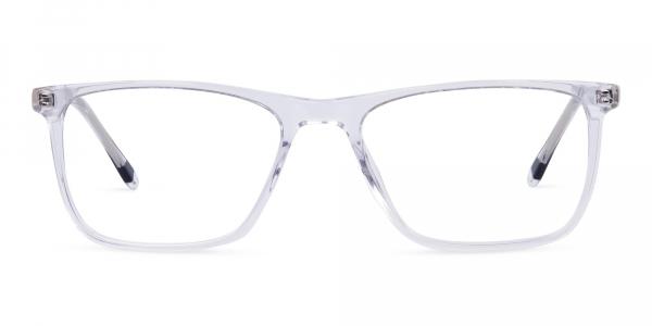 Crystal Clear Rectangular Full Rim Glasses