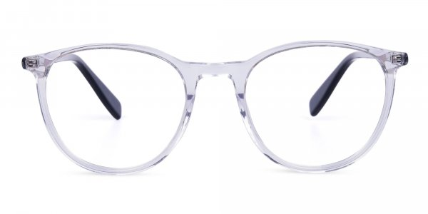Crystal Clear Round Fully Rim Glasses