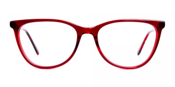 wine red cat eye glasses frames