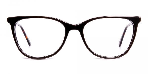 dark brown cat eye glasses frames