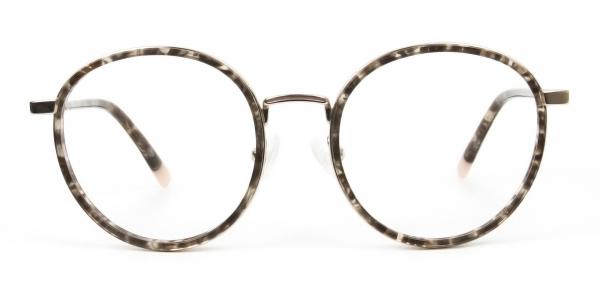 High Nose Bridge Glasses in Tortoiseshell Round Frame