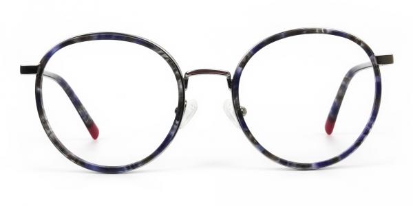Ocean Blue Tortoise & Silver Eyeglasses