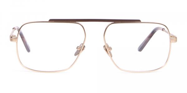 Calvin Klein CK18106 Gold Metal Glasses Rectangular