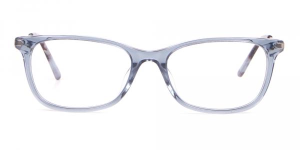 Calvin Klein CK18722 Crystal Blue Cat Eye Rectangular Frame