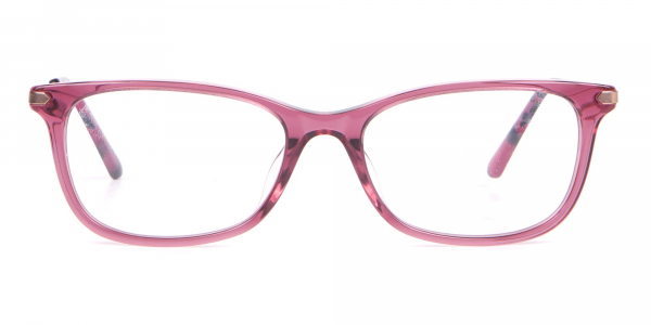 Calvin Klein CK18722 Cat Eye Rectangular Frame Rosy Pink