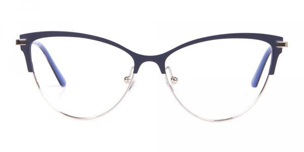 Calvin Klein CK19111 Women Cat Eye Browline Glasses Navy