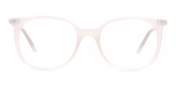 Calvin Klein CK19508 Milky White Classic Round Glasses